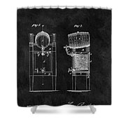 1876 Beer Cooler Shower Curtain