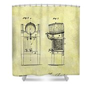 1876 Beer Cooler Patent Shower Curtain