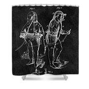 1876 Fireman Suit Patent Shower Curtain