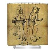 1876 Fireman's Suit Shower Curtain