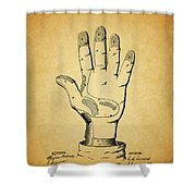 1878 Corn Husking Glove Patent Shower Curtain