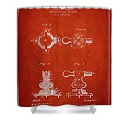 1879 Exercise Machine Patent Spbb08_vr Shower Curtain