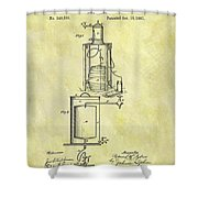 1881 Beer Cooler Patent Shower Curtain