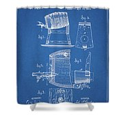 1883 Beer Faucet Design Shower Curtain