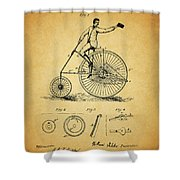 1883 Bicycle Shower Curtain