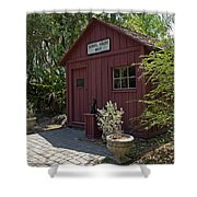 1883 Little Red Schoolhouse Shower Curtain