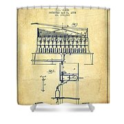 1884 Bottling Machine Patent - Vintage Shower Curtain