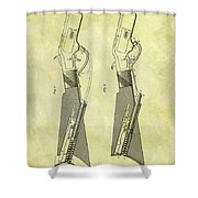 1884 Rifle Stock Patent Shower Curtain