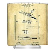 1885 Tuning Fork Patent - Vintage Shower Curtain