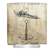 1887 Anchor Patent Shower Curtain