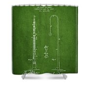 1887 Metronome Patent - Green Shower Curtain