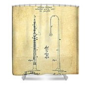 1887 Metronome Patent - Vintage Shower Curtain