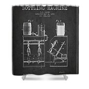 1888 Beer Bottling Machine Patent - Charcoal Shower Curtain