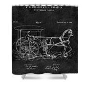 1888 Horse Drawn Carriage Shower Curtain