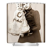 1888 Infant And Mother Shower Curtain by Tom Zukauskas