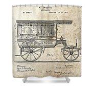 1889 Ambulance Patent Shower Curtain