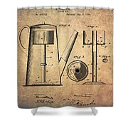 1889 Coffee Maker Patent Shower Curtain