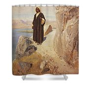 1890-1900- Vasily Polenov Shower Curtain