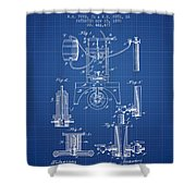 1890 Bottling Machine Patent - Blueprint Shower Curtain