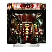 1890s New York - Old - Fashioned Wine Shop Shower Curtain