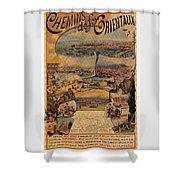 1890s Oriental Railways To Constantinople Shower Curtain