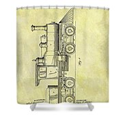 1891 Locomotive Patent Shower Curtain