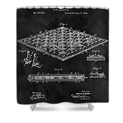1896 Chessboard Patent Shower Curtain