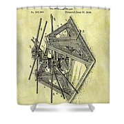 1896 Oil Rig Illustration Shower Curtain