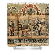 1896 Orient Express Musical Revue Paris Shower Curtain