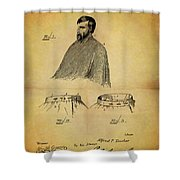 1897 Barber Apron Shower Curtain