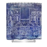 1897 Beer Brewering Patent Blue Shower Curtain
