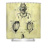 1897 Fireman's Inhaler Patent Shower Curtain
