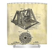 1897 Oil Rig Patent Shower Curtain