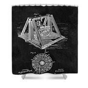 1897 Oil Well Rig Patent Design Shower Curtain
