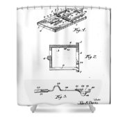 1898 Animal Mouse Trap Shower Curtain