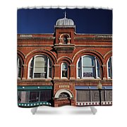 1898 Building Front Shower Curtain