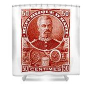 1898 President Of Haiti Stamp Shower Curtain