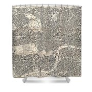 1899 Bacon Pocket Plan Or Map Of London  Shower Curtain