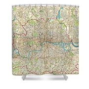 1899 Bartholomew Fire Brigade Map Of London England  Shower Curtain