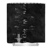 1899 Croquet Game Patent Shower Curtain