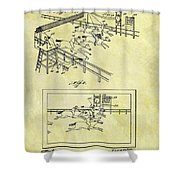 1899 Horse Racing Track Patent Shower Curtain