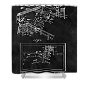 1899 Horse Track Patent Shower Curtain