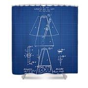 1899 Metronome Patent - Blueprint Shower Curtain