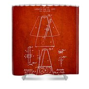 1899 Metronome Patent - Red Shower Curtain