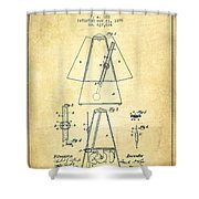 1899 Metronome Patent - Vintage Shower Curtain