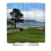 18th At Pebble Beach Horizontal Shower Curtain