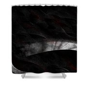 18x9.6-#rithmart Shower Curtain