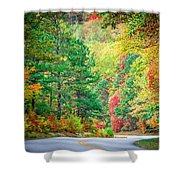 Autumn Season On Blue Ridge Parkway Shower Curtain