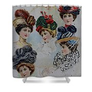 19 Century Ladies Hats The Delineator Early Autumn Hats Shower Curtain