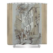 Drawn To Paris Shower Curtain